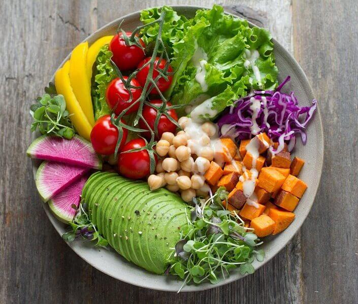 Bowl of vegan food