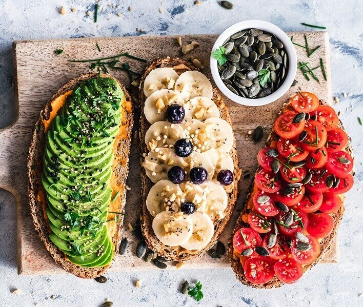 Open topped sandwiches